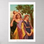 Mujeres en la biblia - Raquel y Leah Poster