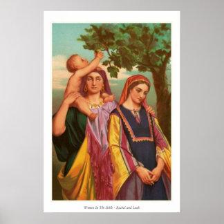 Mujeres en la biblia - Raquel y Leah Póster