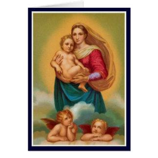 Mujeres en la biblia - Sistine Madonna Tarjeta De Felicitación