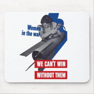 Mujeres en la guerra alfombrillas de raton