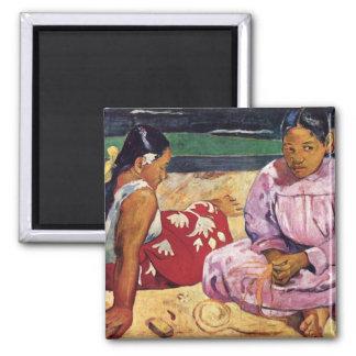 Mujeres en la playa Paul Gauguin de Tahitian Imanes De Nevera