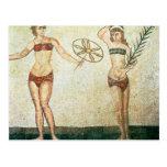 Mujeres en los 'bikinis tarjetas postales