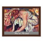 Mujeres en Schuhbinden de Pierre-Auguste Renoir Invitación 10,8 X 13,9 Cm