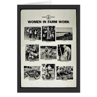 Mujeres en trabajo de la granja tarjetas