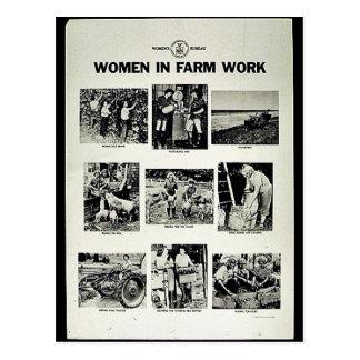 Mujeres en trabajo de la granja postal