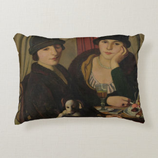 Mujeres en un café, c.1924 cojín decorativo