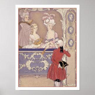 Mujeres en una caja del teatro, ejemplo de 'Les Li Poster
