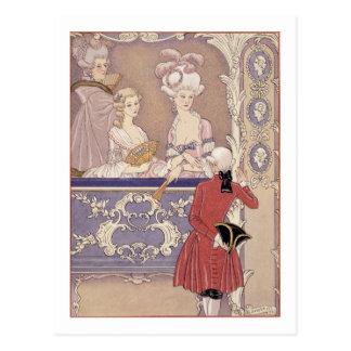 Mujeres en una caja del teatro, ejemplo de 'Les Postal