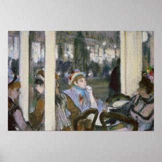 Mujeres en una terraza del café 1877 poster