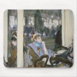 Mujeres en una terraza del café, 1877 tapete de ratón