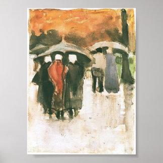 Mujeres etc. de Van Gogh - de Scheveningen. Debajo Póster