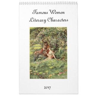Mujeres famosas de la literatura calendario de pared