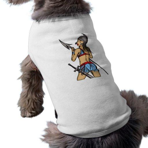 Mujeres fuertes del Amazonas Camisetas Mascota