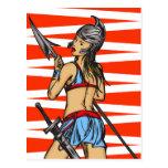 Mujeres fuertes del Amazonas Postal