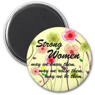 Mujeres fuertes imán redondo 5 cm
