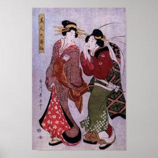 Mujeres hacia fuera para un paseo póster