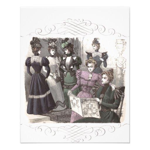 Mujeres hermosas del Victorian en vestidos largos  Tarjetas Publicitarias