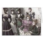 Mujeres hermosas del Victorian en vestidos largos Tarjeta De Felicitación
