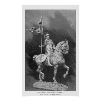 Mujeres históricas - Juana de Arco Impresiones