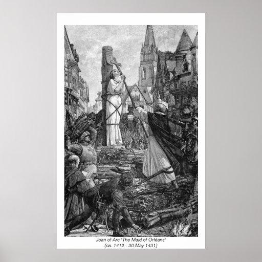 Mujeres históricas - Juana de Arco Poster