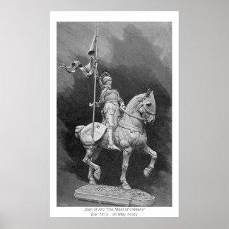 Mujeres históricas - Juana de Arco Póster