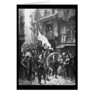 Mujeres históricas - Juana de Arco Tarjeta De Felicitación