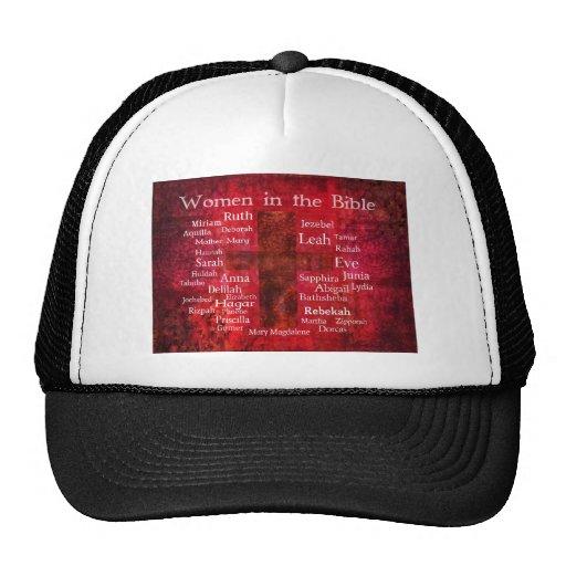 Mujeres importantes en la lista de la biblia gorras de camionero