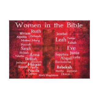 Mujeres importantes en la lista de la biblia lona envuelta para galerias