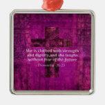Mujeres inspiradas del verso de la biblia del 31:2 ornato