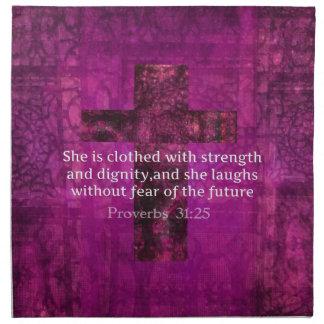 Mujeres inspiradas del verso de la biblia del 31:2 servilleta