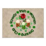 Mujeres irlandesas camorristas invitación 12,7 x 17,8 cm