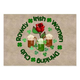 Mujeres irlandesas camorristas tarjetas de visita grandes