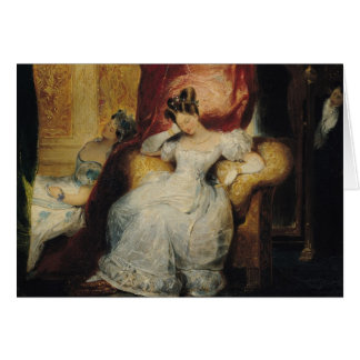 Mujeres jovenes asentadas, 1827 tarjeta