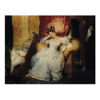 Mujeres jovenes asentadas, 1827 tarjeta postal