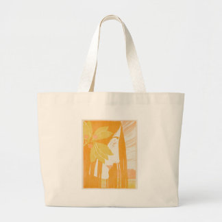 Mujeres jovenes hermosas, impresión del nouveau bolsa tela grande