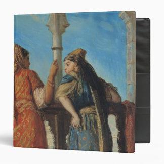 """Mujeres judías en el balcón, Argel, 1849 Carpeta 1 1/2"""""""