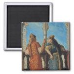 Mujeres judías en el balcón, Argel, 1849 Imanes Para Frigoríficos