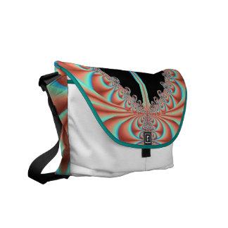 Mujeres/la bolsa de mensajero adolescente con turq bolsas de mensajeria