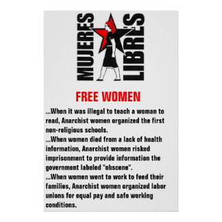 mujeres libres cartel (free women poster) poster