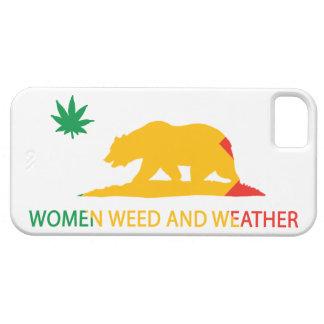 Mujeres mala hierba de California y bandera del ti iPhone 5 Cárcasas