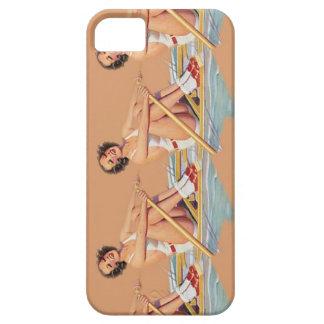 Mujeres modelas que reman la caja del iPhone iPhone 5 Protectores
