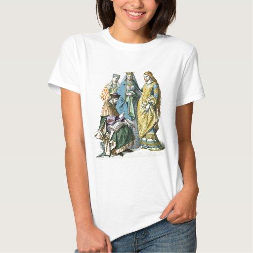 Mujeres nobles alemanas medievales - trajes de playeras