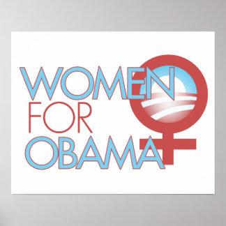 Mujeres para Barack Obama 2012 Impresiones