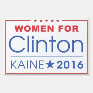 Mujeres para Clinton/Kaine muestra de 2016 yardas Letreros