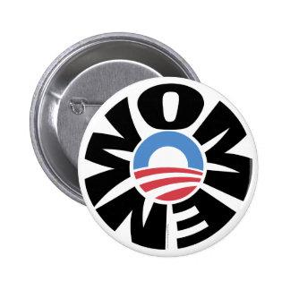 Mujeres para el botón de Obama Pin Redondo De 2 Pulgadas