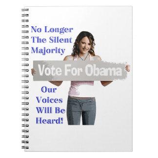 Mujeres para el cuaderno del diseño de Barack Obam