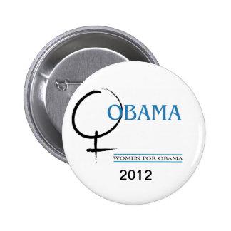 Mujeres para el perno de Obama Pin Redondo De 2 Pulgadas