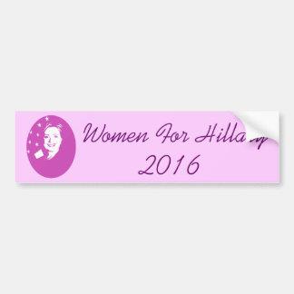Mujeres para Hillary 2016 Etiqueta De Parachoque