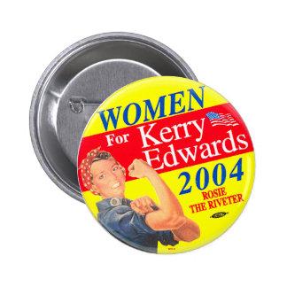 Mujeres para Kerry - botón Pin Redondo De 2 Pulgadas