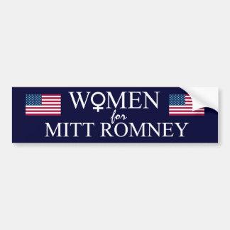 Mujeres para la muestra Romney-Femenina del mitón+ Pegatina Para Auto